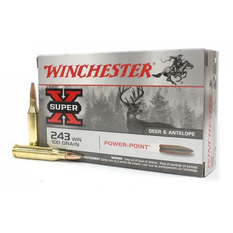WINCHESTER 243 WIN POWER POINT 100GR
