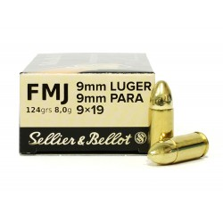 SELLIER BELLOT 9MM LUGER 7.5G/124GR BOITE DE 50 MUNITIONS