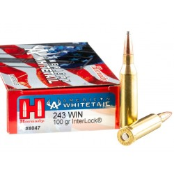 HORNADY 243WIN 100GR INTERLOCK BOITE DE 20 MUNITIONS