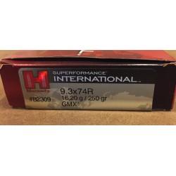 HORNADY 9.3x74R 16.2G/250GR GMX