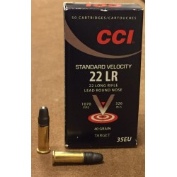 CCI STANDARD VELOCITY CALIBRE 22LR 40GR-326M/S