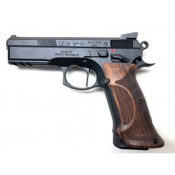 PISTOLET CZ 75 SP-01 BLACK WOOD CALIBRE 9X19 avec CONVERTION 22 CZ SHADOW 1 KADET CAL.22LR