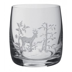 Pack de 6 verres à whisky en cristal avec décor animalier