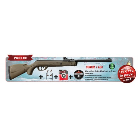 PACK GAMO DELTA KAKI CALIBRE 4.5MM 7.5 JOULES
