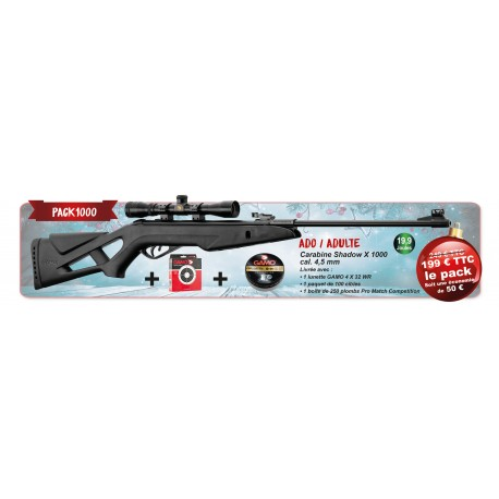 PACK GAMO SHADOW X 1000 CALIBRE 4.5MM 19.9 JOULES